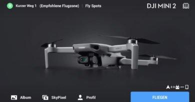 DJI Fly App 1.2.0 Startbildschirm