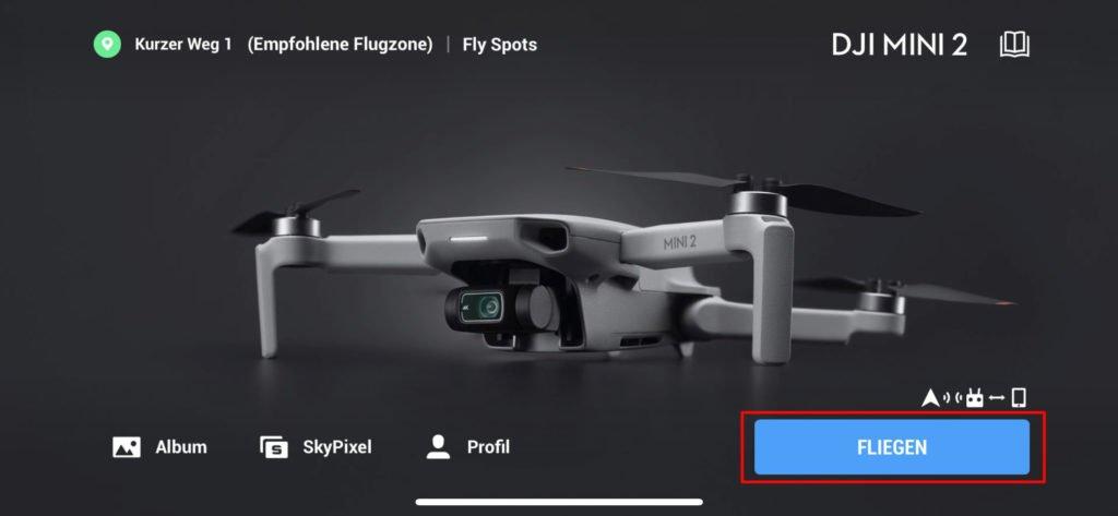 DJI Fly App Live View öffnen