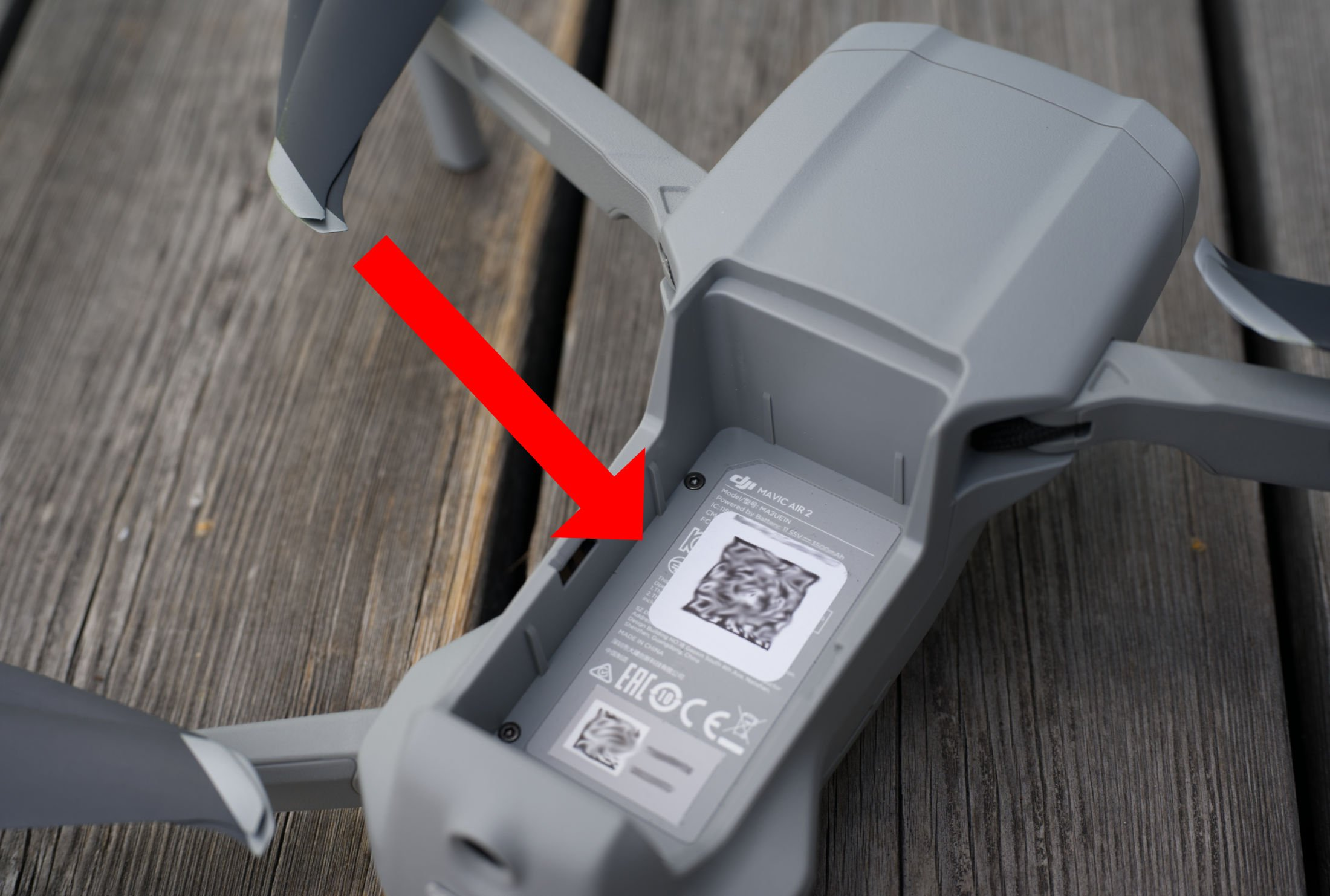 DJI Mavic Air 2 Serial Number Sticker 1