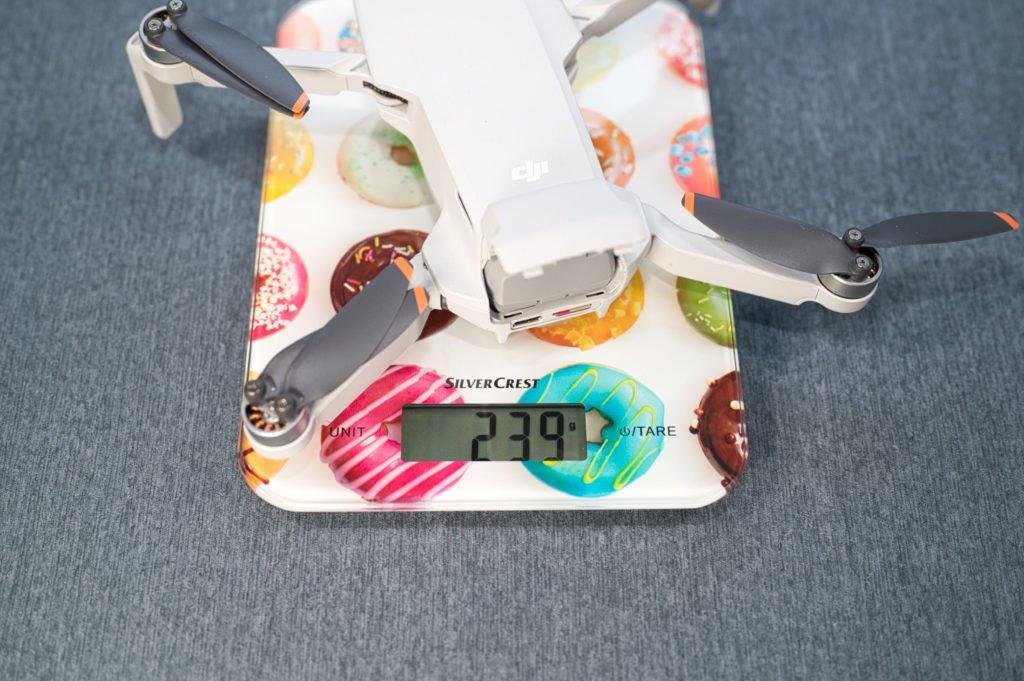 DJI Mini 2 Gewicht mit Mini 2 Akku
