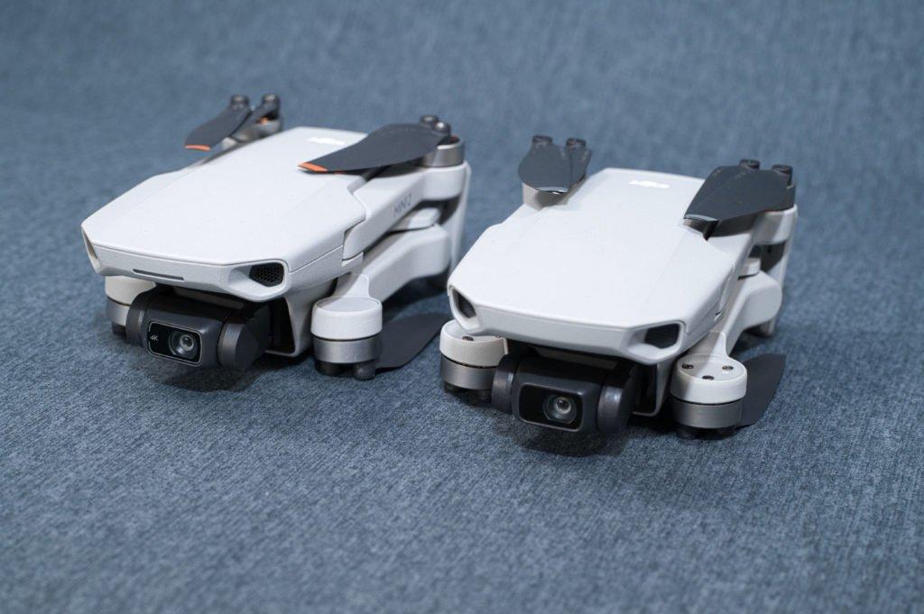 DJI Mini 2 und Mavic Mini Kamerafokus zusammengeklappt