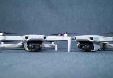 DJI Mini 2 und Mavic Mini Schrägansicht Kamera