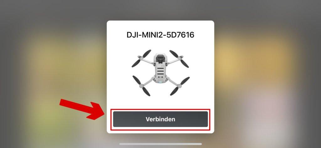 DJI Mini 2 wird via Bluetooth erkannt