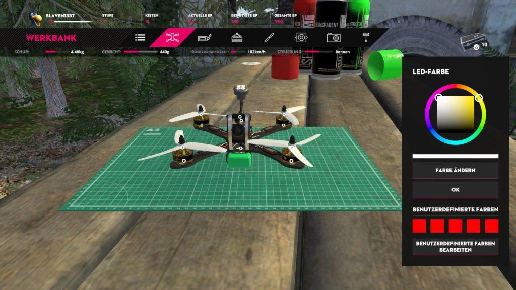Liftoff Drone Racing - Anpassung der Farben