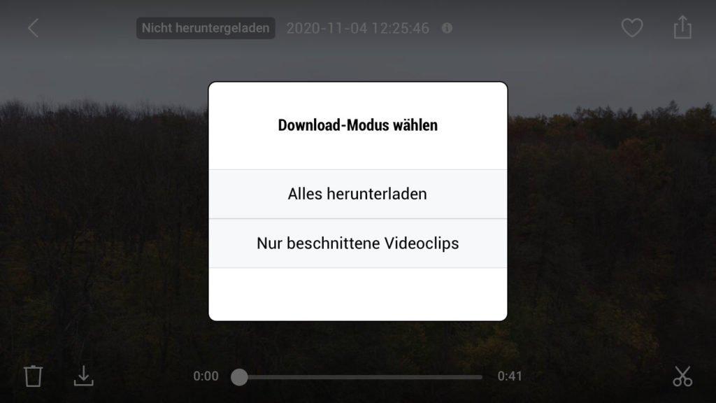 Trimmed Download wählen