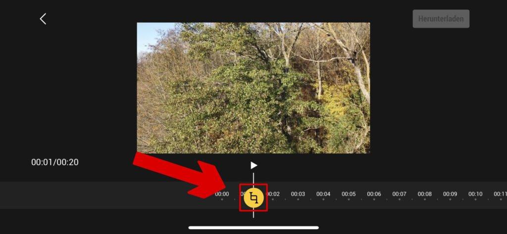Videobereich auswählen - Marker setzen