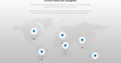 DJI Drone Rescues Map Dezember 2020