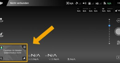 DJI GO 4 App v4.3.40 Local Data Mode aktiviert