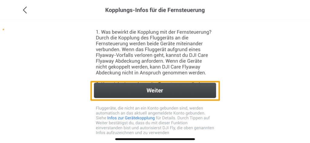 4- Details des Flyaway-Schutzes lesen und bestätigen