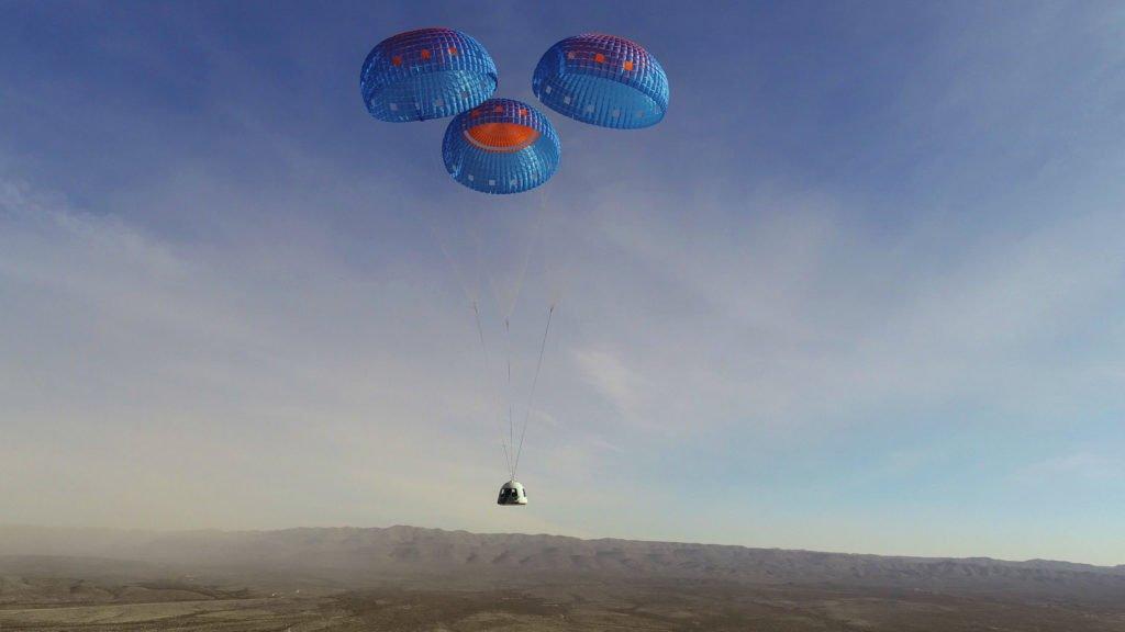 Blue Origin NS-14 Landung