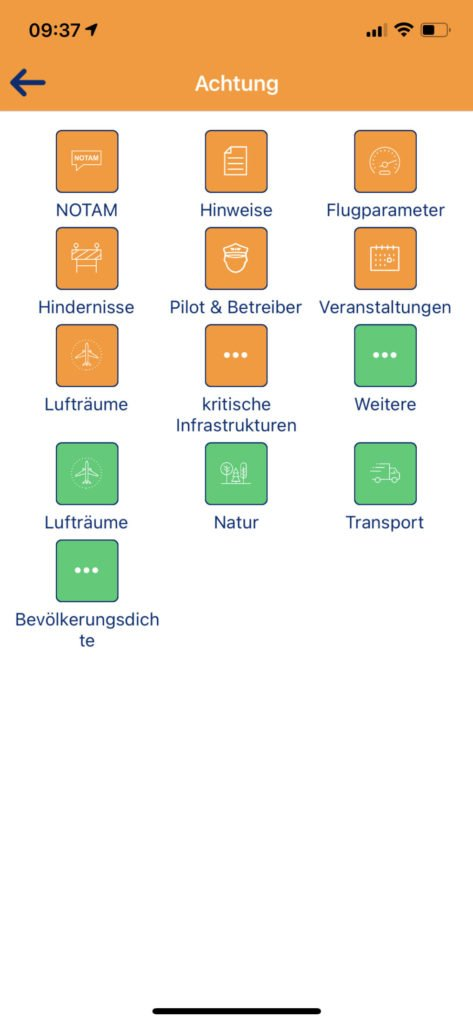 Droniq App Statusdetails