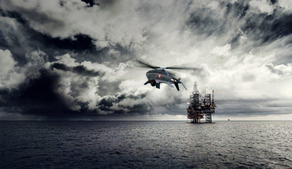 ANAVIA HT-100 UAV über Wasser