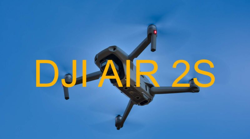 DJI AIR 2S Mockup in der Luft