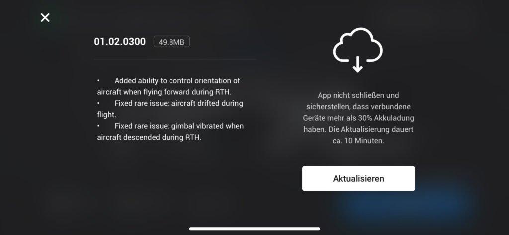 DJI Mini 2 Update v01.02.0300