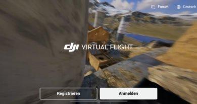 DJI Virtual Flight App Start Screen