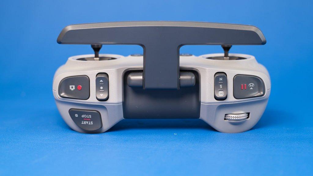 Stirnseite des Controllers mit Buttons