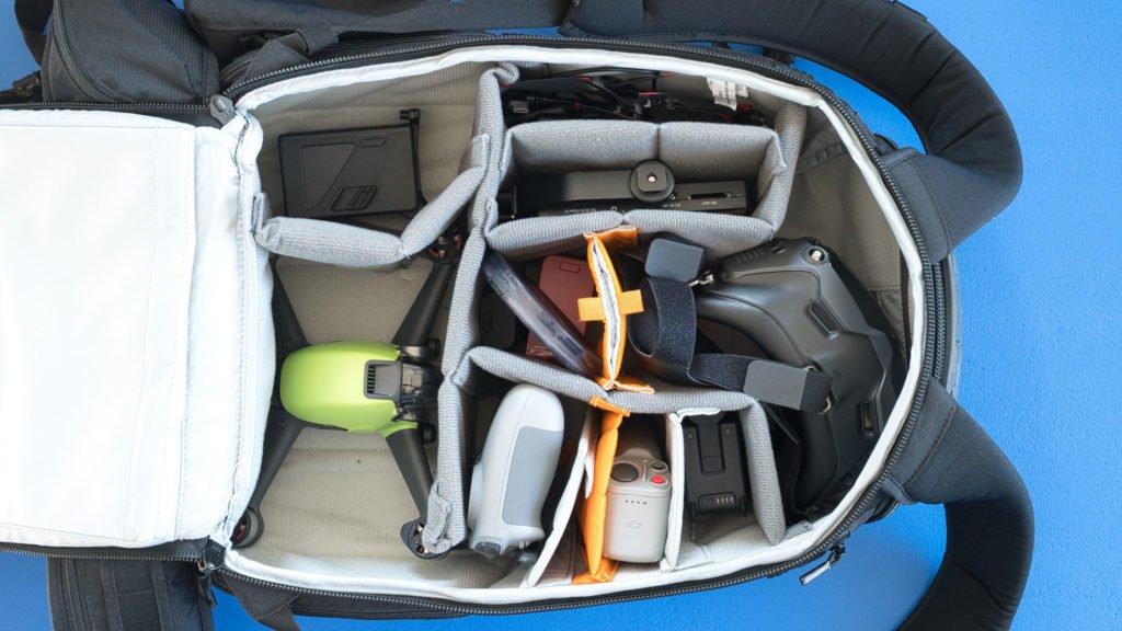 Transport des DJI FPV Combo im Rucksack