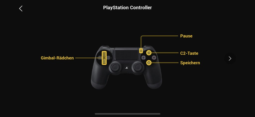 Virtual Flight App - PlayStation Controller Tastenbelegung