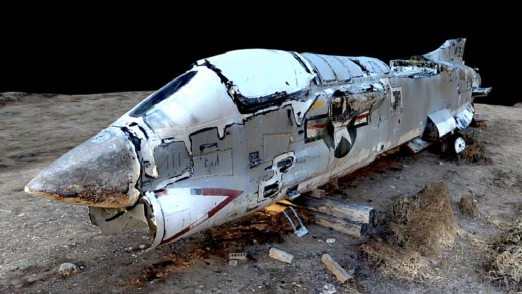 Skydio 3D Scan Beispiel Corsair Jet