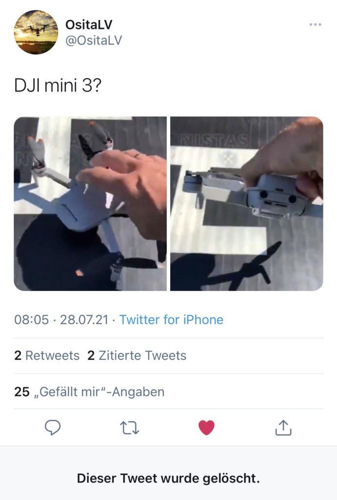 OsitaLV DJI Mini 3 Tweet July 26 2021 via Twitter