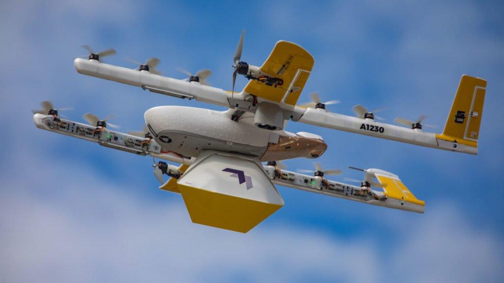 Wing Drohne im Flug