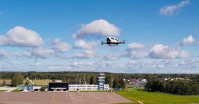 Ehang 216 im Flug in Estland