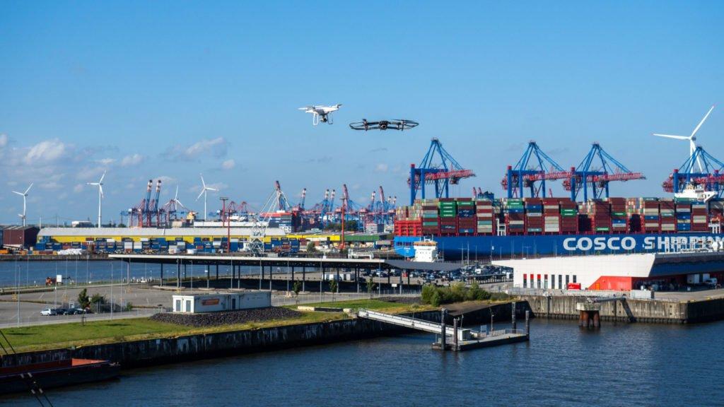 Erstflug im U-Space in Hamburg