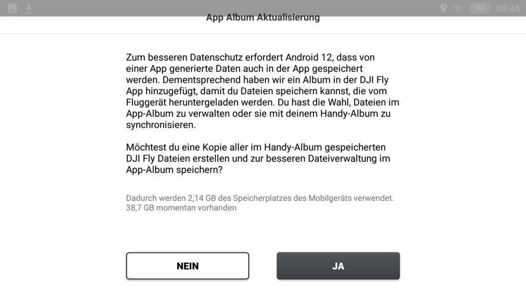 DJI Fly App v1.4.12 - Foto Alben