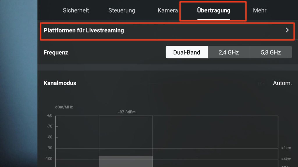 DJI Fly App v1.4.12 - Live Streaming